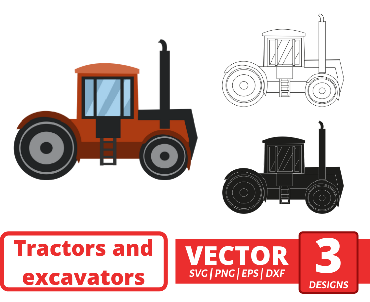 Mini tractor SVG vector bundle - Svg Ocean