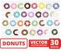 Donuts SVG vector bundle - Svg Ocean