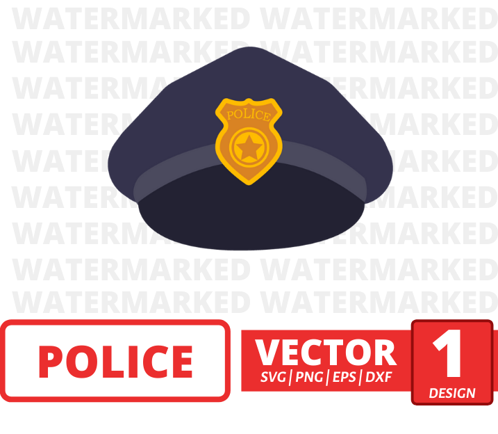Police cap SVG vector bundle - Svg Ocean