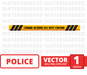 Police tape SVG vector bundle - Svg Ocean