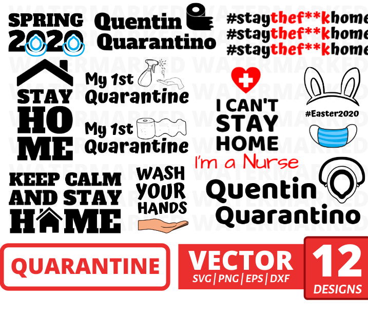 Quarantine SVG bundle vector  - Svg Ocean