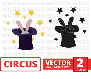 Rabbit in hat SVG vector bundle - Svg Ocean