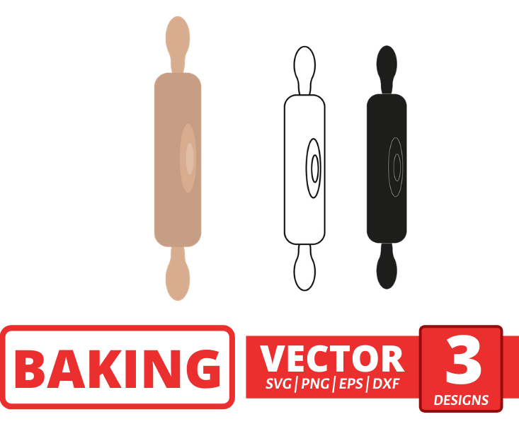 Rolling pin SVG vector bundle - Svg Ocean