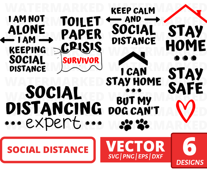 Social distance SVG bundle - Svg Ocean