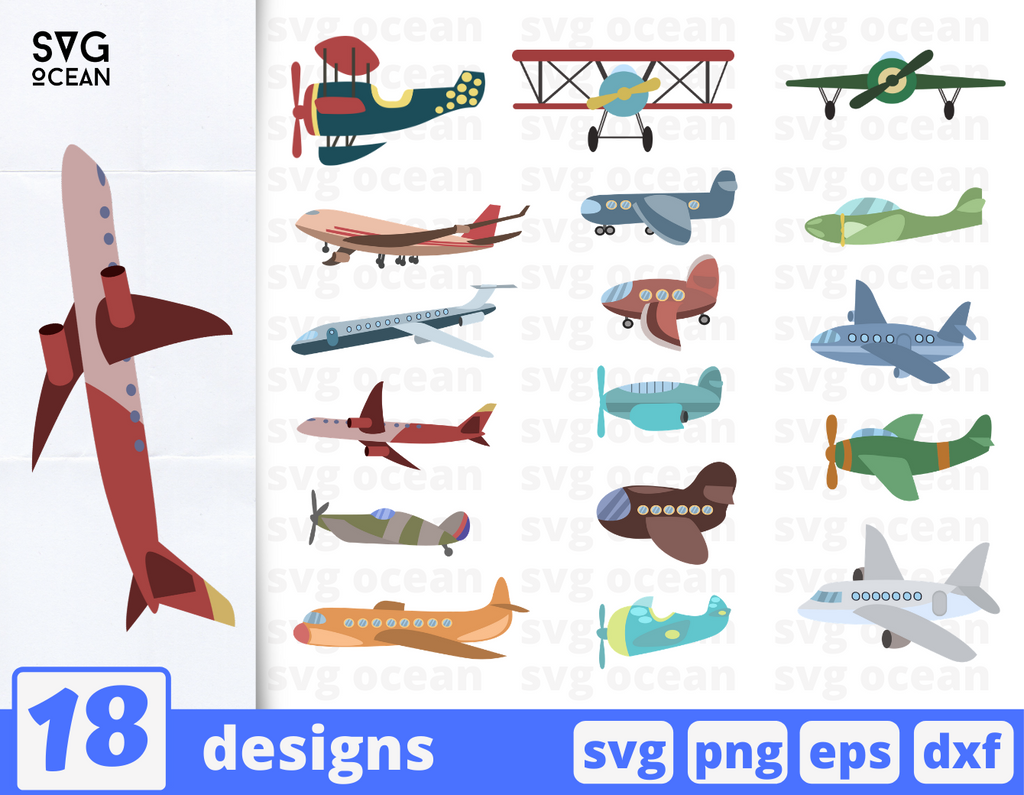 Airplane SVG cut files bundle - Svg Ocean