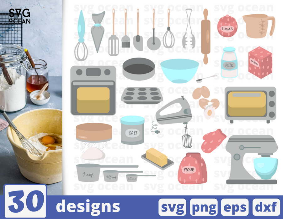 Baking SVG vector bundle - Svg Ocean