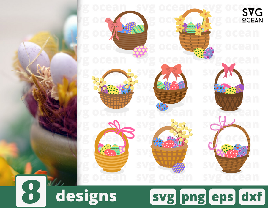 Easter basket SVG vector bundle - Svg Ocean