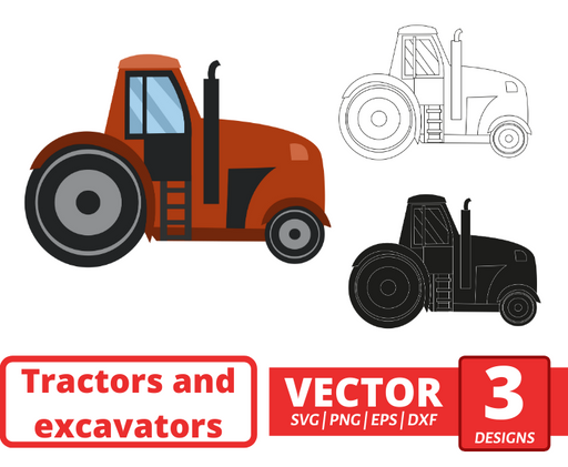 Tractor SVG vector bundle - Svg Ocean