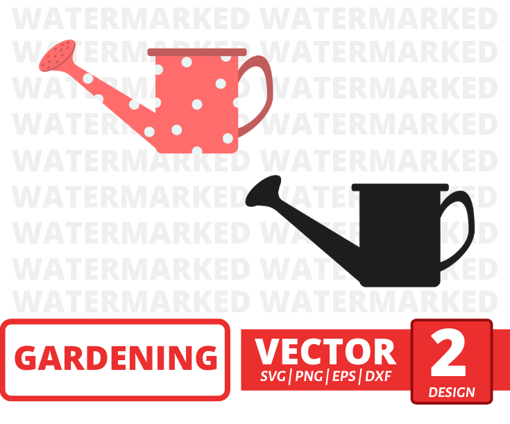 Watering can SVG vector bundle - Svg Ocean