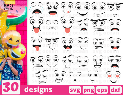Cartoon emotions svg files for cricut - Svg Ocean