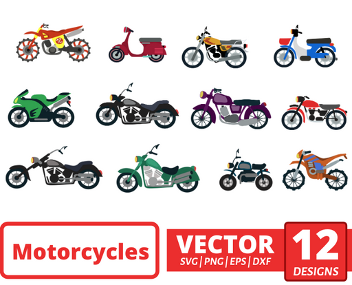 Motorcycles SVG vector bundle - Svg Ocean
