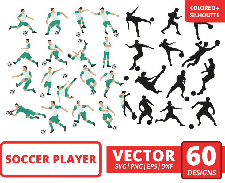 Soccer player SVG Bundle