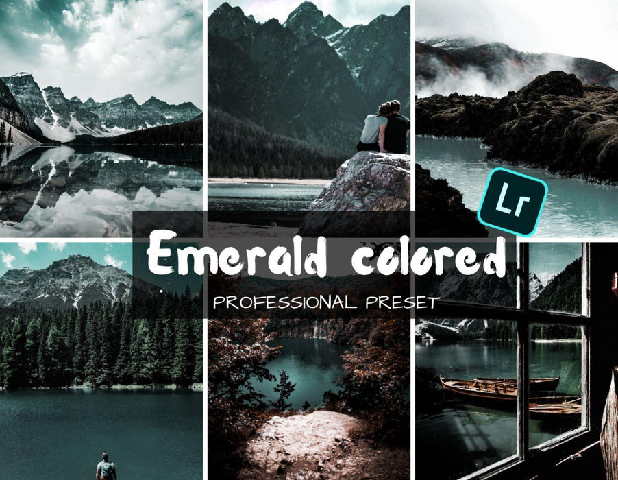Emerald colored mobile lightroom preset