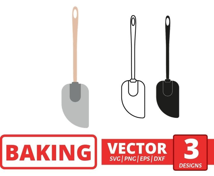 Silicone spatula SVG vector bundle - Svg Ocean