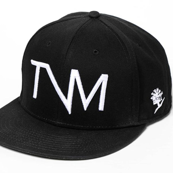 TVM Logo Black Hat, Flat Bill