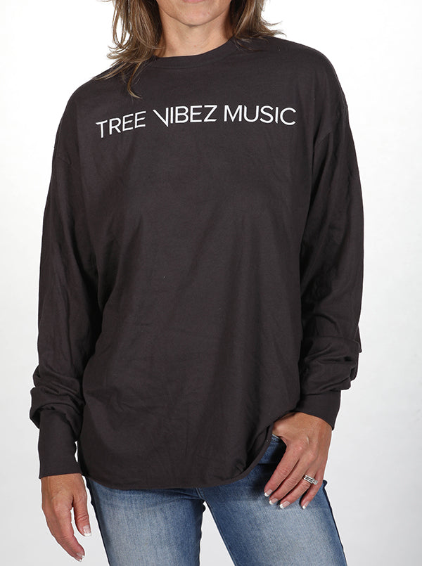 Tribe Kelley & Tree Vibez Music Collaboration Long Sleeve Tee, Black