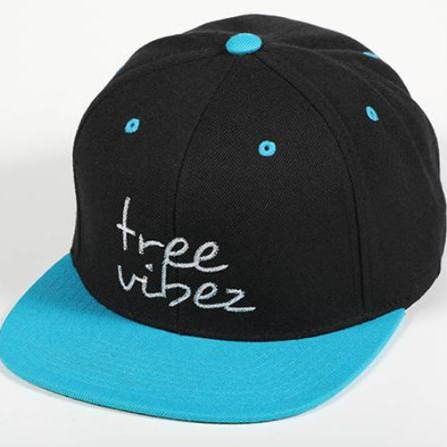 Tree Vibez Black Blue Hat