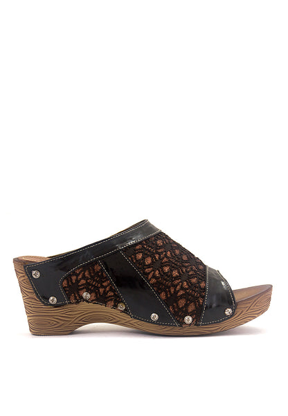 SANDAL WEDGES WANITA [BJI 649] - SYNTETIC