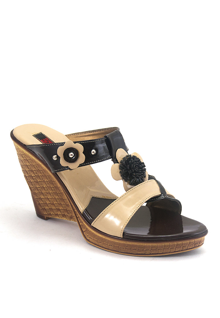SANDAL WEDGES WANITA [BJI 650] - SYNTETIC
