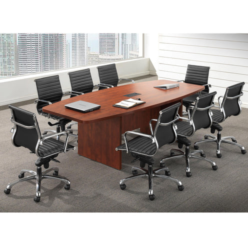 Conference room furniture, including tables, chairs and more.