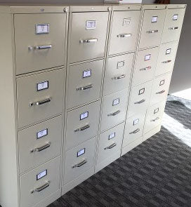 Liquidate office cabinets and drawers