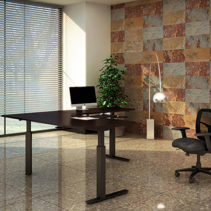 Adjustable height tables for work or home office