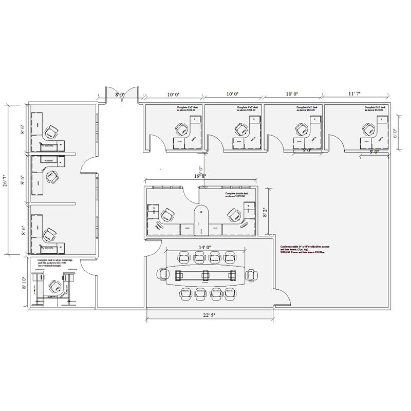 Minnesota Office furniture CAD design and planning