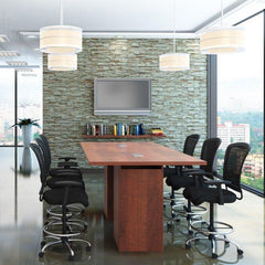 Cafe Height Conference Table with Cube Base