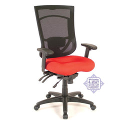 Drone Coolmesh Executive High Back Chair With Adjustable Lumbar Support Fabric / Red No