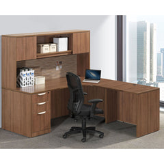 Workstation with overhead and filing