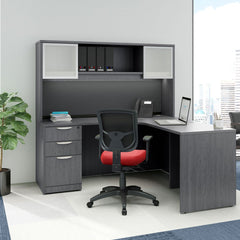 Workstation with overhead storage and filing