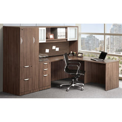 Workstation with wardrobe and filing center