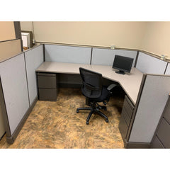 Herman Miller 6x8 AO2 Cubicle with Seated Privacy