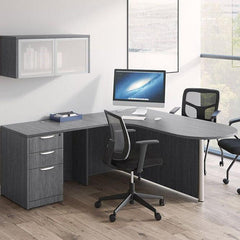 Office Desk with Radial Bullet Top