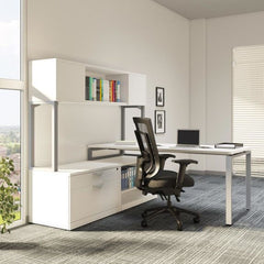 L Desk Group with Side Hutch Unit