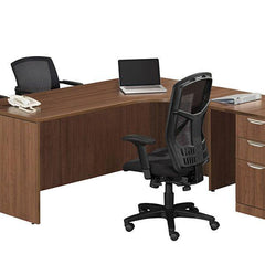 L Desk with File Cabinet