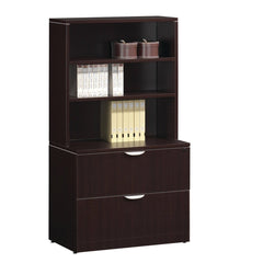 Storage cabinet with bookcase
