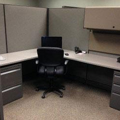 "Herman Miller 67"" Cubicle with new fabric"