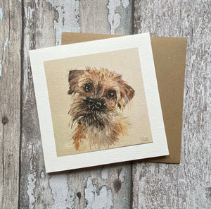 Greetings card - Border Terrier