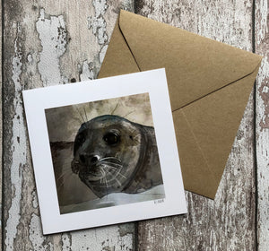 Greeting Card - Grey Seal