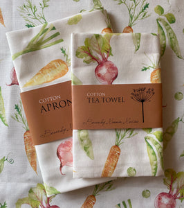 Adult Apron and tea towel set - Grow your own