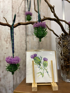 Beaded Scottish Thistle