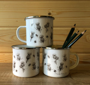 Enamel Mug - The Thistle & The Bee