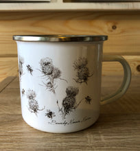Load image into Gallery viewer, Enamel Mug - The Thistle & The Bee