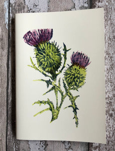 Large lined Notebook - Scottish Thistle