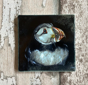 Ceramic Coaster - Nesting Puffin