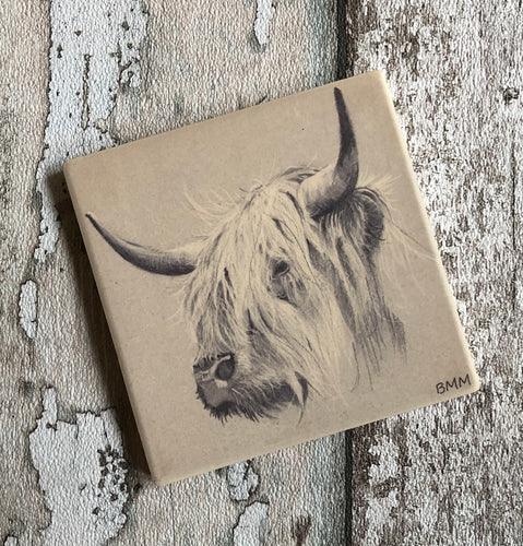 Matte Ceramic Coaster - Old Charlie