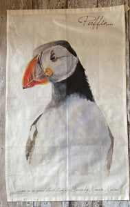 Tea Towel - Puffin
