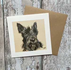 Greetings card - Scottie Dog