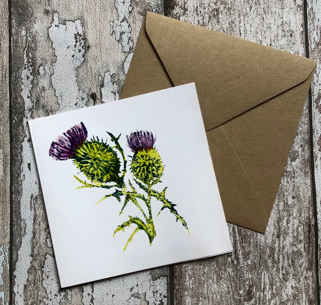 Greeting Card - Scottish Thistle (SALE)